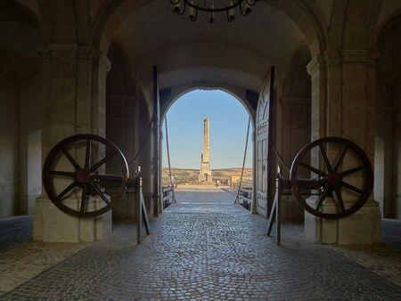 Alba Iulia, Romania - September 20, 2019: The fourth citadel gate in Alba Iulia, Transylvania, Romania