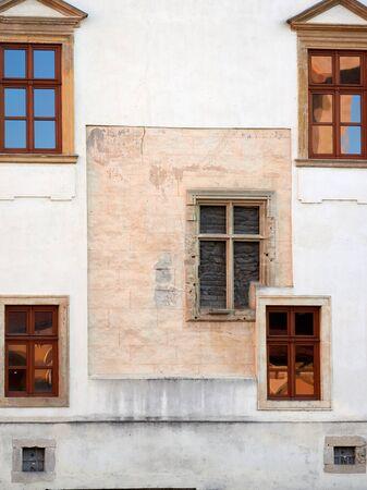 Alba Iulia, Romania - September 22, 2019: The roman-catholic episcopacy palace in Alba Iulia, Romania. Architectural detail. Editorial