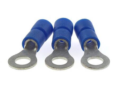 Crimp Ring Terminals, isolated on white