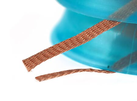 The solder wick or desoldering braid is used to remove excess solder from printed circuit boards