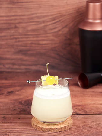Gin sour cocktail Stock Photo