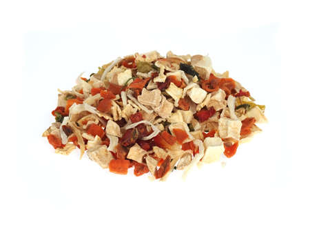 Dried vegetable mix for soups