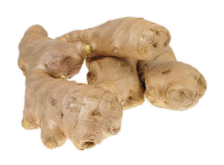 Ginger root isolated on white background 免版税图像