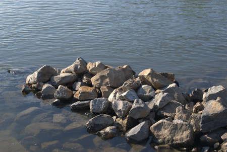 ijssel: Some rocks in the IJssel near Zutphen