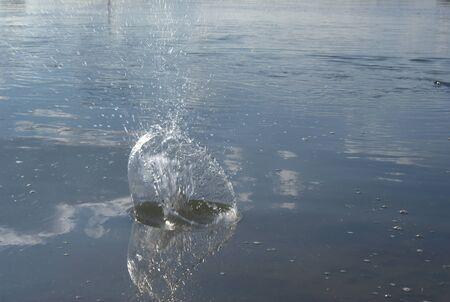to watersplash: A watersplash Stock Photo