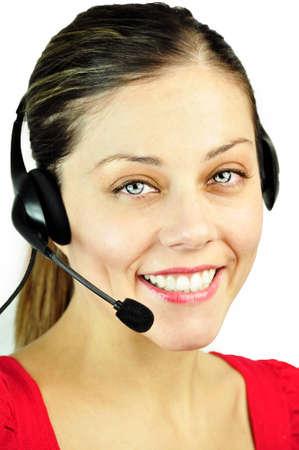 callcenter: smiling call-center woman