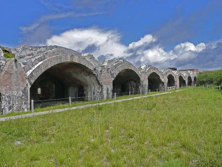 Rainwater from the forts walls was channeled into these two cisterns to provide fresh water for Fort Pickens - Pensacola, Florida photo