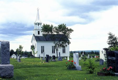 Old weathered church and cemetery near St Stephen, New Brunswick, Canada Stock Photo - 7055175