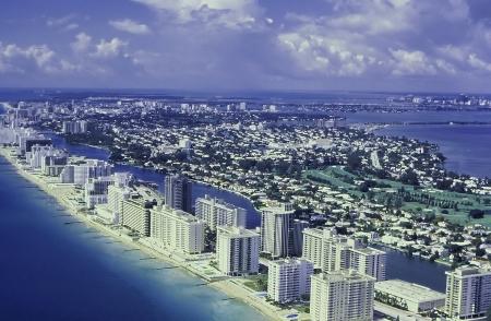 coastline: Miami Beach arial photo