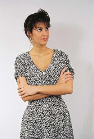 Close-up of an attractive woman 版權商用圖片