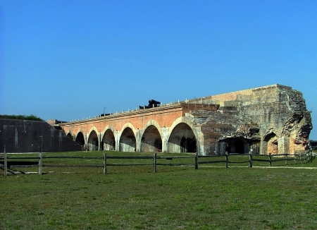 View of the large arches supporting the weight of the fort.  Stock Photo - 13966820