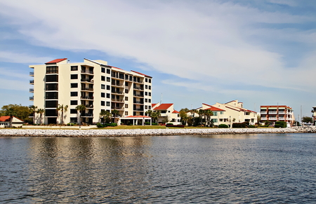 pensacola: Condominiums, offices and government buildings line the waterfront in downtown Pensacola