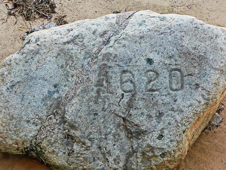 Plymouth Rock is New England 免版税图像