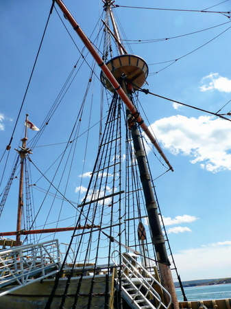 mayflower: The Mayflower II at Plymouth, MA
