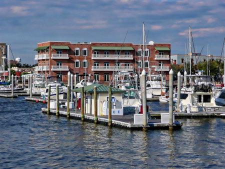 pensacola: Palafox Pier and ice house - Pensacola, Florida