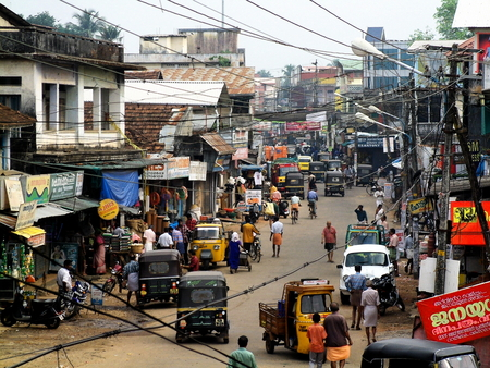 common market: A Market in Chalakudy, a town in the District of the Kerala State in India