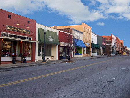 Alabama: View of downtown Opelika,  Alabama Editorial