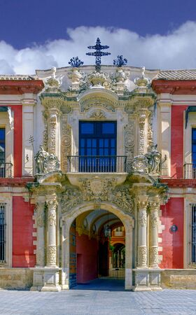 nobleman: The baroque entrance of the Archbishops Palace of Seville, Spain. The palace  has served as the residence of bishops and archbishops of the episcopal sees and numerous nobleman and military figures to the present time Editorial