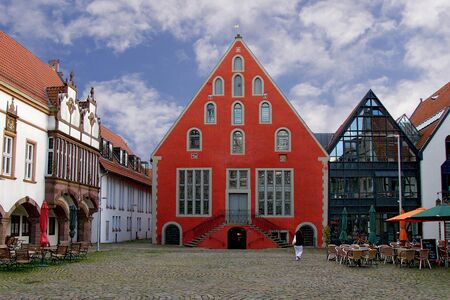 north  rhine westphalia: Market square in Lemgo, North Rhine Westphalia, Germany