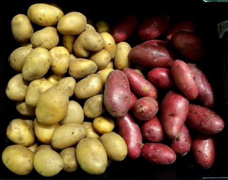 oxbow: Potatoes at the Oxbow Public Market - Napa, California Stock Photo
