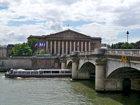 nationale: View of the French Nationale Assembly, near the Seine River, Paris, France Editorial