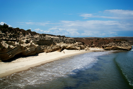 Beach on Santa Rosa Island - the second largest of the Channel Islands of California 免版税图像
