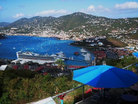 thomas: Cruise ship visiting St Thomas, US Virgin Islands Stock Photo
