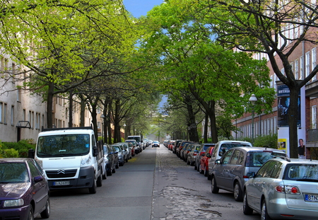 A residential street in Berlin's Wilmersdorf district
