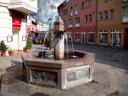 spandau: A public fountain in the Old Town of Spandau - Berlin, Germany