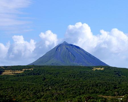 Pico Mountain on Pico Island, Azores, Portugal Stock Photo