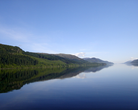 loch ness: View of Loch Ness, a large, deep, freshwater loch in the Scottish Highlands Stock Photo