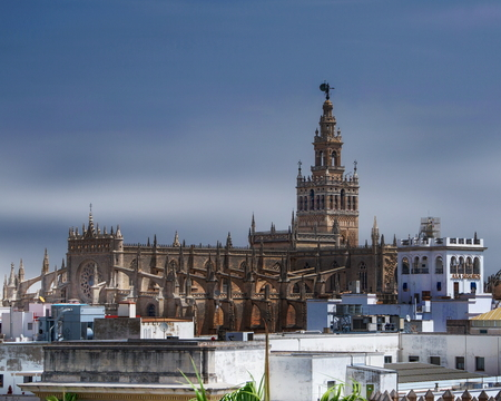 View of the Seville Cathedral - Seville, Spain Stock Photo