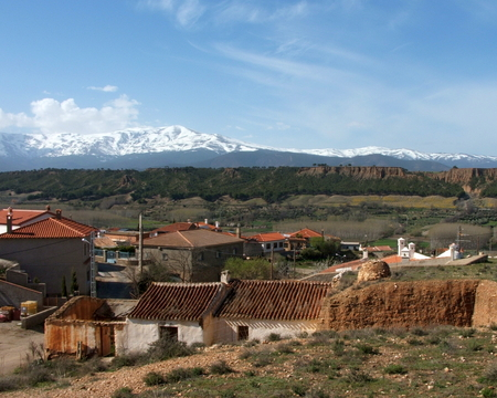 A view of the Sierra Nevada - Granada, Spain