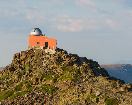 The Mohon del Trigo Observatory in Spain sits abandoned on top of a mountain