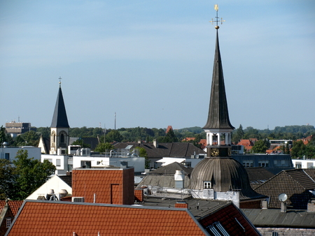 Rooftop view of Oldenburg -Lower Saxony, Germany. 免版税图像