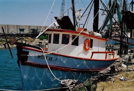 Shrimp boates docked in downtown Pensacola - Pensacola, Florida Editorial