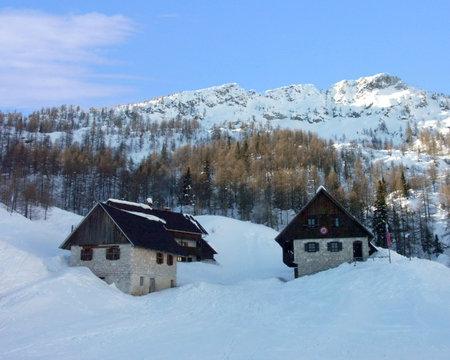 Alpine huts in Blejska Koca, Slovenia Editöryel