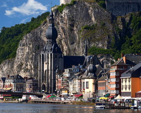View of Dinant, a municipality located on the River Meuse in the Belgian province of Namur.