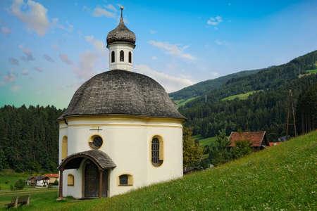 View of the Chapel of Saint Borgias - Tulfes, Austria Stock Photo