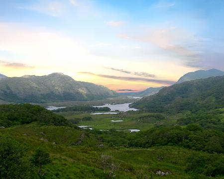 Killarney National Park with the Lakes of Killarney in the background. County Kerry, Ireland Foto de archivo