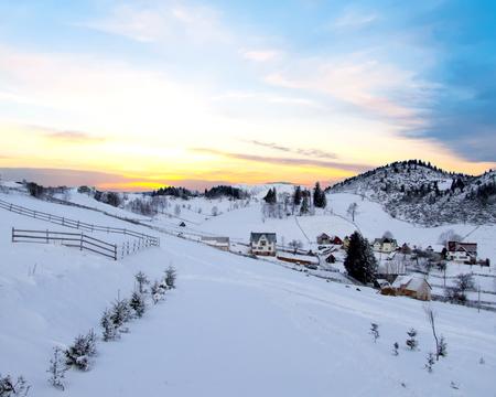 Winter scene in Romania