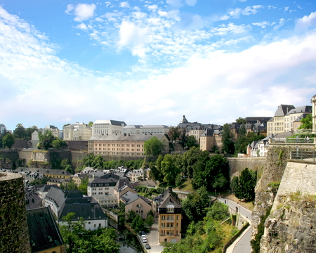 Aerial view of Luxembourgs capital city