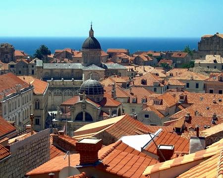 Overlooking the rooftops of Dubrovnik, Croatia