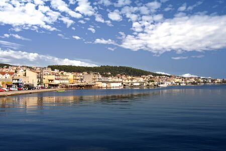 Panoramic view of the ancient city of Argostoli, Greece
