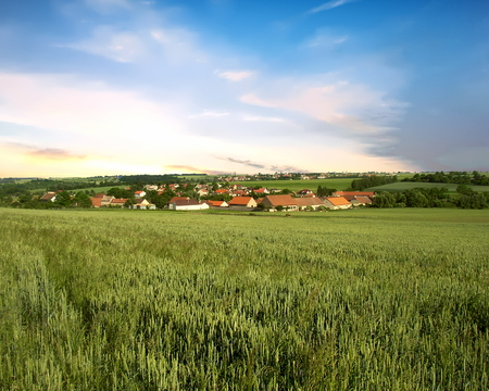 A view of the village of Makotrasy in the Central Bohemian Region of the Czech Republic