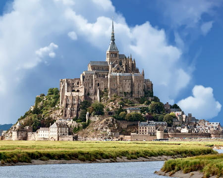 View of Mont Saint-Michel - Normandy, France Stock Photo