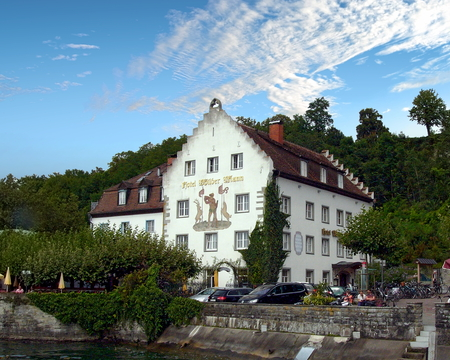 Meersburg guest house on Lake Constance, Germany Editorial