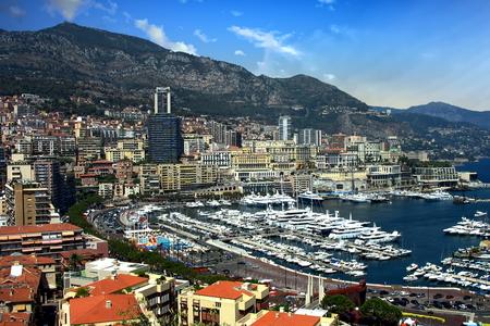 Monte Carlo and harbor, Monaco