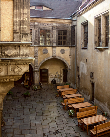 Old Town Hall courtyard in Görlitz, Germany