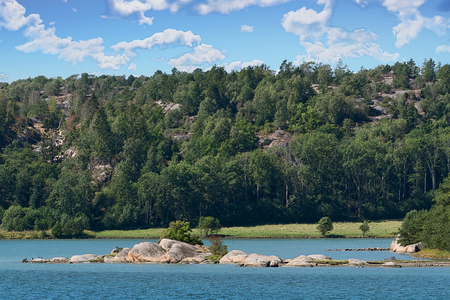 View of the Broälven Nature Reserve in Lysekil Municipality, Sweden